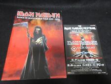 Iron Maiden 2004 Japan Tour Program Book w Promo Flyer Arch Enemy Sonata Arctica