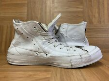 RARE🔥 Converse x Schott New York NYC White Leather Motorcycle Jacket Irving 9.5
