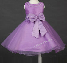 Flower Girl Dress Sparkly Jewl Girls Party Christening Bridesmaid Corsage Dress