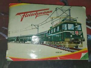 Fleischmann 1958/59; Train Katalog MINT original catalogue from 1958/59/B740