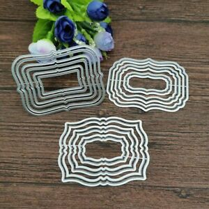 Label Frame Set Metal Cutting Dies Scrapbooking Album Card Embossing Paper Craft