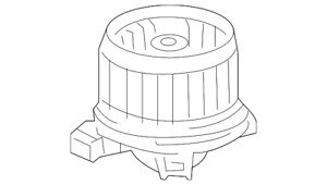 Genuine Toyota Motor Sub-Assembly  Blower With Fan 87103-0C051