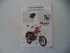 advertising Pubblicità 1983 MOTO MALAGUTI CUSTOM 50