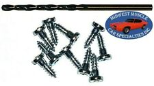 Ford Window Trim Clip Molding Pin Stud Screw In Stud Studs & Drill Bit 10pcs