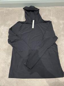 Lululemon Running Gym Top Jacket Hoodie Black Water Resistant Size L Large