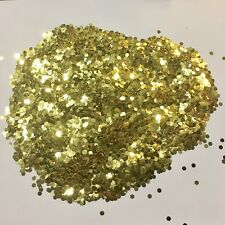 1kg Gold Glitter 125 Hex 3mm Double Sided Home Decoration Walls Kilogram Kilo