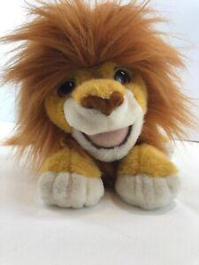 1993 Authentic Disney Plush Roaring Simba Puppet Sound Lion King Gift Talks Vtg