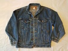 Vintage Levi Strauss Men's Denim Jeans Jacket L 57508 0214 Made in USA Red tag