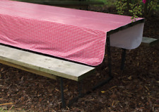 """52""""X84"""" Red White Gingham Tablecloth Pinic Folding Camper RV Vinyl Table Spread"""