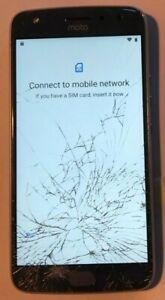 Motorola - Moto X4 Cell Phone 32gb Unlocked Sterling Blue Cracked Glass Pin Lock