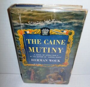 BOOK The Caine Mutiny by Herman Wouk April 1,1952 Printing of 1st Edition op