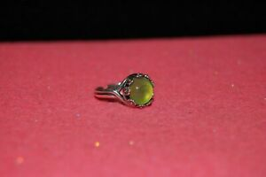 Flower Surround Mood Ring--Sterling Silver Plated--10mm--Adjustable (#A4K5)