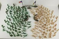 Mixed Lot Of 200 Plastic Army Men Soldiers Figures & Misc. Military Toys