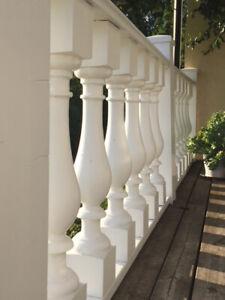 Pfosten, Staketen, Treppengeländer - Haus+Fassaden+Dekoration - Made in Sweden