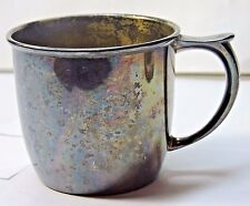 NOS w defects Antique Vintage Silverplate 1847 Rogers Bros BABY CUP w/ Tag 3135