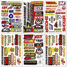 Motocross Dirt Bike Motorcycles MotoGP ATV D6104 Lot 6 Vinyl Decals Stickers Kit