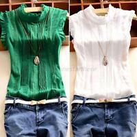 Women Sleeveless Blouse Shirts OL Lady T-Shirt Summer Tops Office Work Wear M45