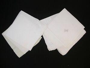 Vintage Lot (1) of Lady's Handkerchiefs...Six (6) White Linen Hankies
