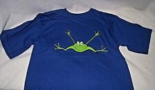 Frog I Love You ASL ILY American Sign Language T Shirt Blue Boy Girl 14 16 NEW