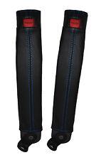 Blue stitch 2x ceinture peau couvre fits TOYOTA LAND CRUISER PRADO lj78 / LJ70