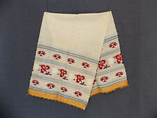 Antique Folk Bulgarian Hand-embroidered Cotton Men's Scarf for Groom's Waist