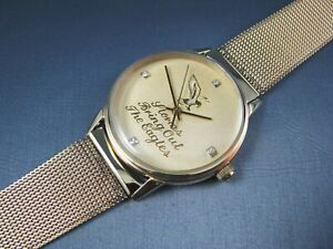 Vintage Hamilton 10k Gold GF ETA Quartz Diamond Dial Mens Watch 1982