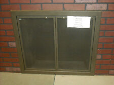 "Stoll Essential Collection Mesh Fireplace Door Custom Nickle Vein 34"" x 30"""