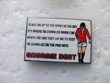 United Badge - George Best Song Northern Ireland Manchester