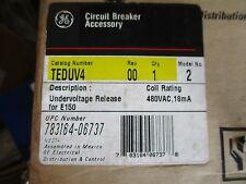 Ge Teduv4, Model 2 Undervoltage Release, 480 Volt- New