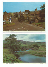 Vintage Postcards x 2 HAWES New Bridge and Town Head North Yorkshire
