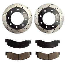 Fits 1999-2004 Ford F-250 F-350 Super Duty Front Brake Rotors and Ceramic Pads