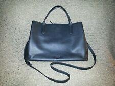 MARGOT NEW YORK-Black Leather-Laptop/Briefcase/Schoolbag-Satchel-Shoulder-NWT