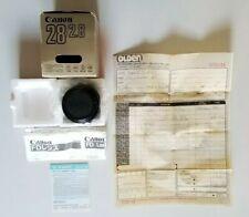 Canon FD 50mm F/1.8 Manual Focus 35mm SLR Lens