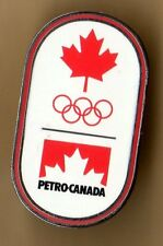 RIO 2016. OLYMPIC GAMES. SPONSOR PIN. PETRO-CANADA. MAPLE LEAF. OLYMPIC RINGS