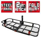 DK2 Hitch Cargo Carrier Black Steel Folding Corrosion Resistant 500 lb. Capacity