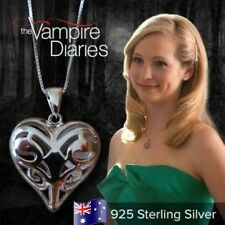 Sterling Silver VAMPIRE DIARIES Caroline Forbes Heart Vervain Pendant Necklace