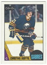 1987-88 OPC HOCKEY #121 CHRISTIAN RUUTTU ROOKIE - EXCELLENT-