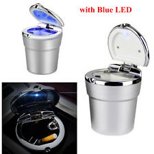 Portable Stainless Auto Car Cigarette Ashtray Ash with Blue LED Light Smokeless