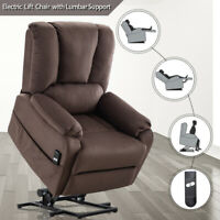 Power Lift Recliner Chair Fabric Lounge Sofa w/Remote for Elderly Stand Assist