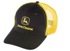Genuine John Deere Black & Yellow Mesh Cap Adult Hat Tractor MCJ099399152