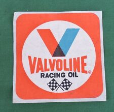 "1 Vintage NOS Red Square Valvoline Racing Oil 3"" x 3"" Sticker/Decal"