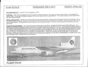 (A) Flightpath Hawaïen Air, Lockheed L-1011 Décalques 1/144 58