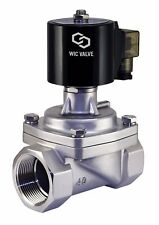 """1-1/4"""" Inch Stainless Zero Differential Electric Steam Solenoid Valve 220V AC"""