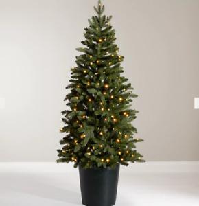 John Lewis 5.5ft pre-lit BALA potted Christmas Tree rrp £159 d