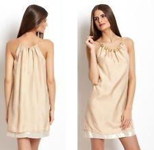 NWT US$295 AU$394 2b.RYCH Glam Short Silk Bead Dress w Chain Strap Sz S AU8-10