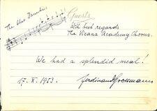 Composer FERDINAND GROSSMANN Autograph Music Quotation - Vienna Academy Chorus