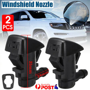 2PCS Windshield Wiper Spray Jet Washer Nozzle for Jeep Grand Cherokee 2005-2018