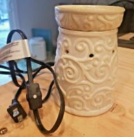 Essenza Full Size Scented Candle Wax Warmer Ceramic Cream Swirls