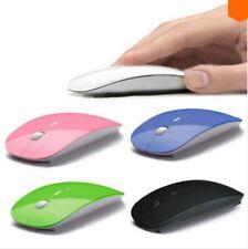 Souris sans fil optique 3 boutons - Dpi réglable + dongle Bluetooth USB - Rouge