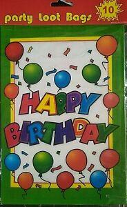 Birthday Bags Filler Children Boys Girls Kids Loot Bags Happy Birthday Bags